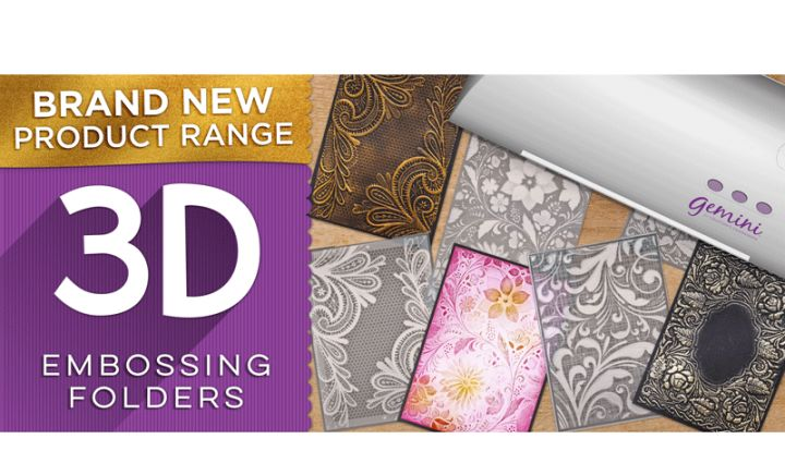 Crafters Companions 3D Embossing Folders