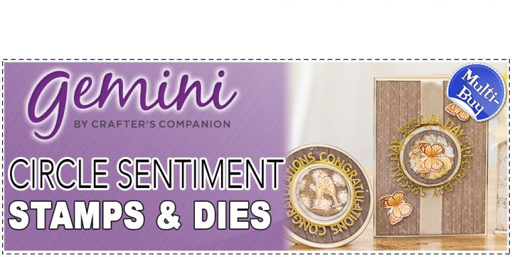 Gemini Circular Sentiment Stamp & Die Sets