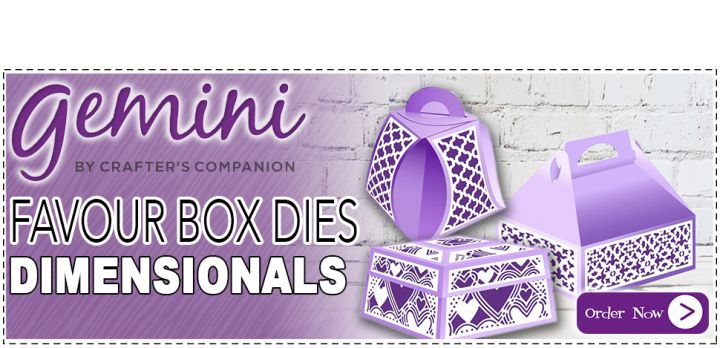 Gemini Dimensional Favour Box Dies