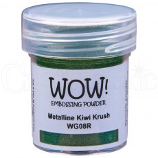 Wow Embossing Powder 15 ml Metalline - Kiwi Crush Regular