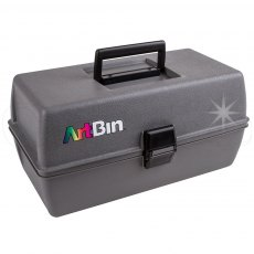 Artbin - Upscale Two Tray Box - Metal Links - Slate Gray