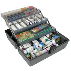 Artbin - Upscale Three Tray Box - Metal Links - Slate Gray