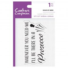 Crafter's Companion Clear Acrylic Stamp Set - Quirky Sentiments - Hour Of Need