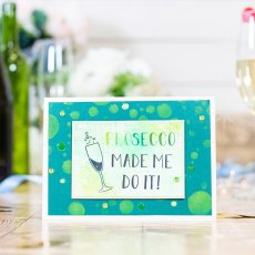 Crafter's Companion Clear Acrylic Stamp Set - Quirky Sentiments - Prosecco Made Me