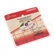 Sew Easy Patchwork Ruler - 4.5 x 4.5 inches
