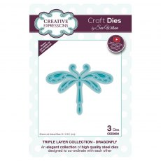 Sue Wilson Craft Dies - Triple Layer Collection - Dragonfly