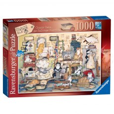 Ravensburger 1000 Piece Puzzle - Crazy Cats - Go Salvage Hunting