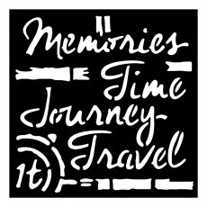 Woodware 6 x 6 Stencil - Time Travel