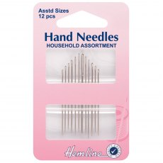 Hemline - Hand Sewing Needles - Household - 12 pieces