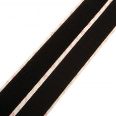 Velcro - Hook & Loop Tape - Stick On Black - 1m x 20mm