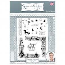Sentimentally Yours Photopolymer Stamp - Montage Collection - Mystical Moments Corner Set