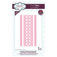 Sue Wilson Craft Dies - Filigree Artistry Collection - Squares & Crosses Border