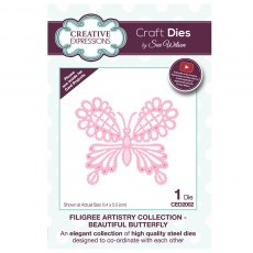 Sue Wilson Craft Dies - Filigree Artistry Collection - Beautiful Butterfly