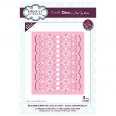 Sue Wilson Craft Dies - Filigree Artistry Collection - Scalloped Border
