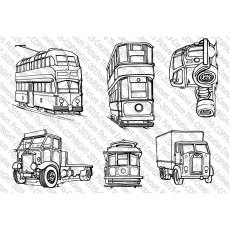 Picture This Stamps - Trucks 'n' Trams - 031