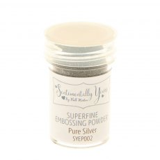 Phill Martin - Sentimentally Yours - Superfine Embossing Powder - Pure Silver