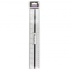 Hunkydory - Premier Craft Tools - Decimal inch Ruler with Metal Edge