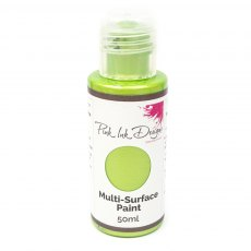 Pink Ink - Multi Surface Paint - Green Apple Shimmer