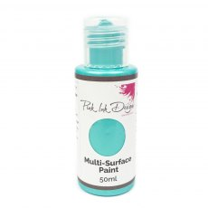 Pink Ink - Multi Surface Paint - Bayside Aqua Shimmer