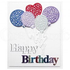 Sue Wilson Craft Dies - September Collection 2019 - Celebrations - Dotty Balloons