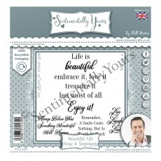 Phill Martin - Sentimentally Yours Stamps - Ultimate Verse & Sentiments - Beautiful Life