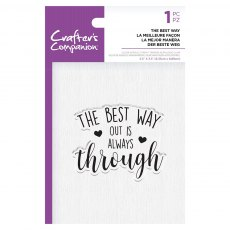 Crafter's Companion Clear Acrylic Stamp Set - Quirky Sentiments - The Best Way