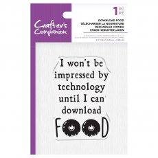 Crafter's Companion Clear Acrylic Stamp Set - Quirky Sentiments - Download Food