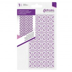Gemini - Embossing Folder - Geometric Florals - 5.75 x 2.75 inches
