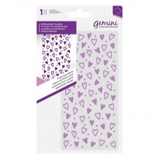 Gemini - Embossing Folder - Polka Dot Hearts - 5.75 x 2.75 inches