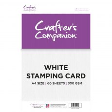 Crafters Companion - White Stamping Card