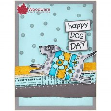 Woodware Clear Stamps - Pup and Mog