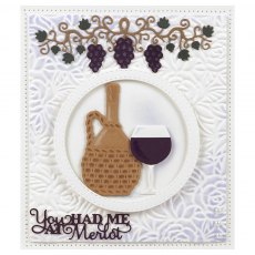 Sue Wilson Craft Dies - Frames & Tags Collection - Grape Vine Border