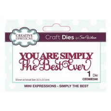 Sue Wilson Craft Dies - Mini Expressions Collection - Simply The Best