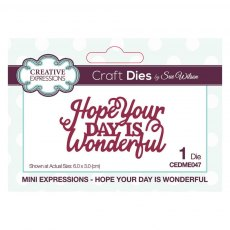 Sue Wilson Craft Dies - Mini Expressions Collection - Hope Your Day Is Wonderful