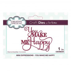 Sue Wilson Craft Dies - Mini Expressions Collection - You Make Me Happy