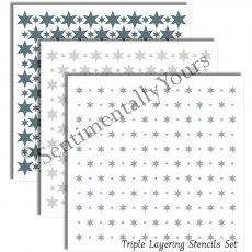 Phill Martin - Sentimentally Yours - Triple Layering Stencil - Stars