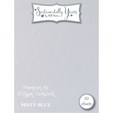 Phill Martin - Sentimentally Yours - Premium Cardstock - Misty Blue