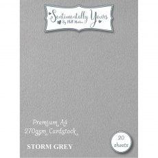 Phill Martin - Sentimentally Yours - Premium Cardstock - Storm Grey