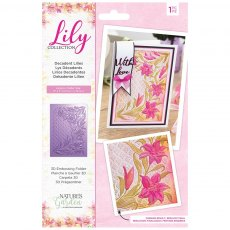 Nature's Garden - Lily Collection - 3D Embossing Folder - Decadent Lilies