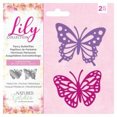 Nature's Garden - Lily Collection - Metal Die - Fancy Butterflies