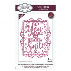 Sue Wilson Craft Dies - All In One Collection - You Make My Heart Smile