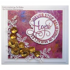 Sue Wilson Craft Dies - Circle Sayings Collection - HOPE