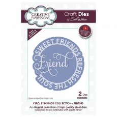 Sue Wilson Craft Dies - Circle Sayings Collection - FRIEND
