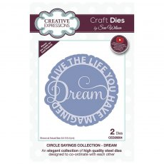Sue Wilson Craft Dies - Circle Sayings Collection - DREAM