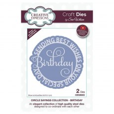 Sue Wilson Craft Dies - Circle Sayings Collection - BIRTHDAY