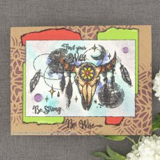 Woodware Clear Stamps - Skull