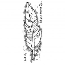 Woodware Clear Stamps - Large Feather