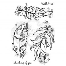 Woodware Clear Stamps - Boho Feathers