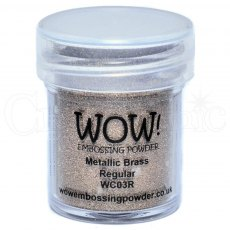 Wow Embossing Powder 15 ml Metallic Brass - Regular