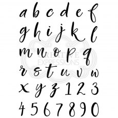 Woodware Clear Stamps - Brush Script Lowercase